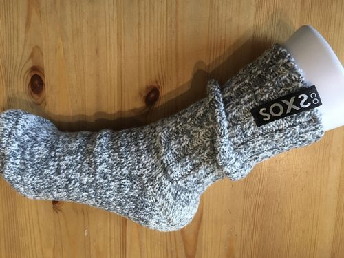 SOXS 3215 Schafswollsocken Woman-medium (37-41) grau Label Jet Black